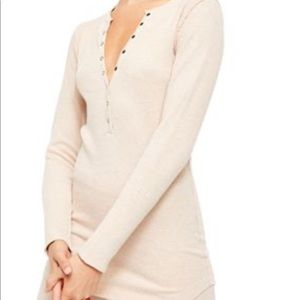 NWT Free People Think Thermal Henley top